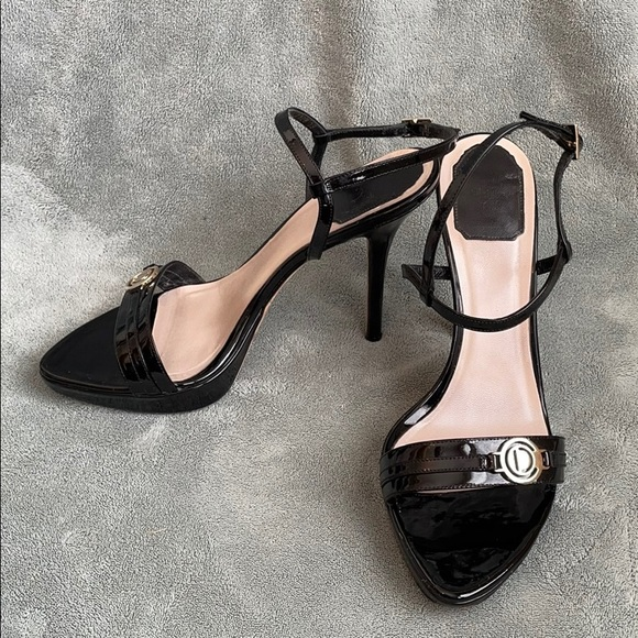 Christian Dior Patent Leather High-Heeled Sandals